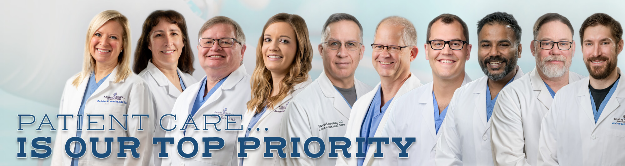 At Kansas Surgical Consultants our talented providers believe that Patient Care is the top priority